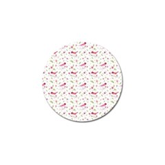 Watercolor Birds Magnolia Spring Pattern Golf Ball Marker (10 Pack) by EDDArt