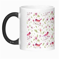 Watercolor Birds Magnolia Spring Pattern Morph Mugs by EDDArt