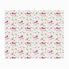 Watercolor Birds Magnolia Spring Pattern Small Glasses Cloth by EDDArt