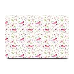 Watercolor Birds Magnolia Spring Pattern Plate Mats by EDDArt