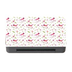 Watercolor Birds Magnolia Spring Pattern Memory Card Reader With Cf by EDDArt