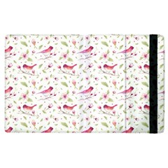 Watercolor Birds Magnolia Spring Pattern Apple Ipad 2 Flip Case by EDDArt