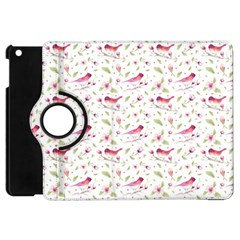 Watercolor Birds Magnolia Spring Pattern Apple Ipad Mini Flip 360 Case by EDDArt