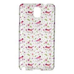 Watercolor Birds Magnolia Spring Pattern Samsung Galaxy Note 3 N9005 Hardshell Case by EDDArt