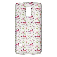 Watercolor Birds Magnolia Spring Pattern Samsung Galaxy S5 Mini Hardshell Case