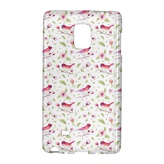 Watercolor Birds Magnolia Spring Pattern Samsung Galaxy Note Edge Hardshell Case by EDDArt