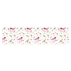 Watercolor Birds Magnolia Spring Pattern Satin Scarf (oblong) by EDDArt