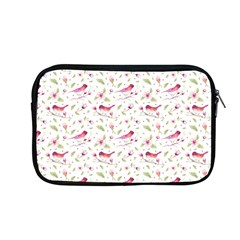 Watercolor Birds Magnolia Spring Pattern Apple Macbook Pro 13  Zipper Case by EDDArt