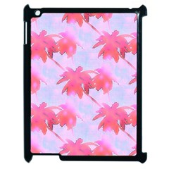 Palm Trees Paradise Pink Pastel Apple Ipad 2 Case (black) by CrypticFragmentsColors