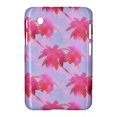 Palm Trees Paradise Pink Pastel Samsung Galaxy Tab 2 (7 ) P3100 Hardshell Case  by CrypticFragmentsColors