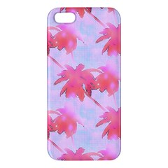 Palm Trees Paradise Pink Pastel Iphone 5s/ Se Premium Hardshell Case by CrypticFragmentsColors