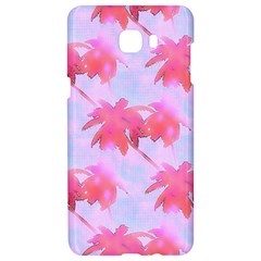 Palm Trees Paradise Pink Pastel Samsung C9 Pro Hardshell Case  by CrypticFragmentsColors