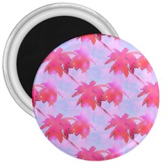 Palm Trees Paradise Pink Pastel 3  Magnets by CrypticFragmentsColors