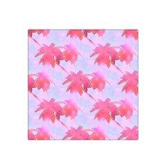 Palm Trees Paradise Pink Pastel Satin Bandana Scarf by CrypticFragmentsColors