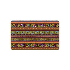 Traditional Africa Border Wallpaper Pattern Colored 2 Magnet (name Card) by EDDArt