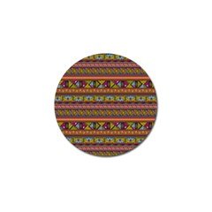 Traditional Africa Border Wallpaper Pattern Colored 2 Golf Ball Marker by EDDArt