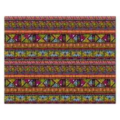 Traditional Africa Border Wallpaper Pattern Colored 2 Rectangular Jigsaw Puzzl by EDDArt