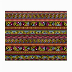 Traditional Africa Border Wallpaper Pattern Colored 2 Small Glasses Cloth by EDDArt