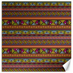 Traditional Africa Border Wallpaper Pattern Colored 2 Canvas 20  X 20   by EDDArt