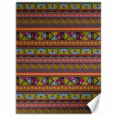 Traditional Africa Border Wallpaper Pattern Colored 2 Canvas 36  X 48   by EDDArt