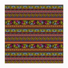 Traditional Africa Border Wallpaper Pattern Colored 2 Medium Glasses Cloth by EDDArt