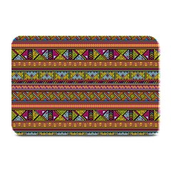 Traditional Africa Border Wallpaper Pattern Colored 2 Plate Mats by EDDArt
