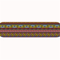 Traditional Africa Border Wallpaper Pattern Colored 2 Large Bar Mats by EDDArt