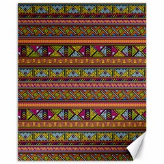 Traditional Africa Border Wallpaper Pattern Colored 2 Canvas 11  X 14   by EDDArt