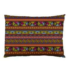 Traditional Africa Border Wallpaper Pattern Colored 2 Pillow Case by EDDArt