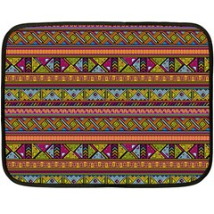 Traditional Africa Border Wallpaper Pattern Colored 2 Fleece Blanket (mini) by EDDArt