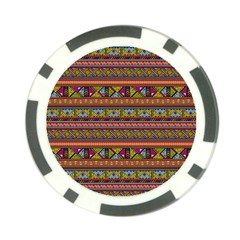 Traditional Africa Border Wallpaper Pattern Colored 2 Poker Chip Card Guard (10 Pack) by EDDArt
