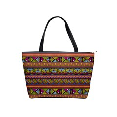 Traditional Africa Border Wallpaper Pattern Colored 2 Shoulder Handbags by EDDArt