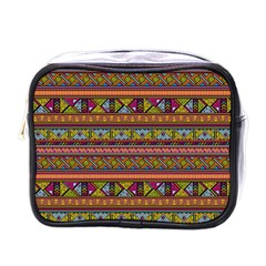 Traditional Africa Border Wallpaper Pattern Colored 2 Mini Toiletries Bags by EDDArt