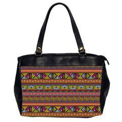 Traditional Africa Border Wallpaper Pattern Colored 2 Office Handbags (2 Sides)  by EDDArt