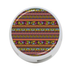 Traditional Africa Border Wallpaper Pattern Colored 2 4 Port Usb Hub (two Sides) by EDDArt