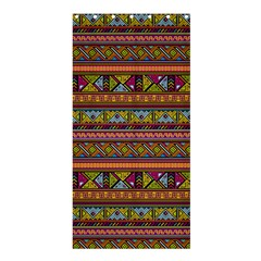 Traditional Africa Border Wallpaper Pattern Colored 2 Shower Curtain 36  X 72  (stall)  by EDDArt