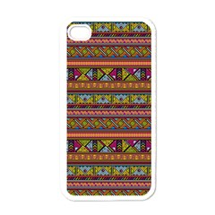 Traditional Africa Border Wallpaper Pattern Colored 2 Apple Iphone 4 Case (white) by EDDArt