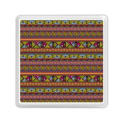 Traditional Africa Border Wallpaper Pattern Colored 2 Memory Card Reader (square) by EDDArt