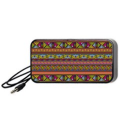 Traditional Africa Border Wallpaper Pattern Colored 2 Portable Speaker by EDDArt