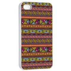 Traditional Africa Border Wallpaper Pattern Colored 2 Apple Iphone 4/4s Seamless Case (white) by EDDArt