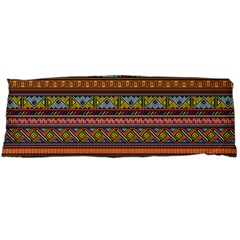 Traditional Africa Border Wallpaper Pattern Colored 2 Body Pillow Case (dakimakura) by EDDArt