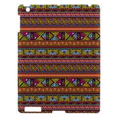 Traditional Africa Border Wallpaper Pattern Colored 2 Apple Ipad 3/4 Hardshell Case by EDDArt