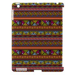 Traditional Africa Border Wallpaper Pattern Colored 2 Apple Ipad 3/4 Hardshell Case (compatible With Smart Cover) by EDDArt