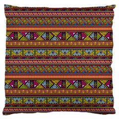 Traditional Africa Border Wallpaper Pattern Colored 2 Large Cushion Case (two Sides) by EDDArt