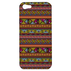 Traditional Africa Border Wallpaper Pattern Colored 2 Apple Iphone 5 Hardshell Case by EDDArt