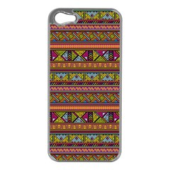 Traditional Africa Border Wallpaper Pattern Colored 2 Apple Iphone 5 Case (silver) by EDDArt