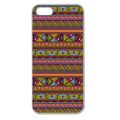 Traditional Africa Border Wallpaper Pattern Colored 2 Apple Seamless Iphone 5 Case (clear) by EDDArt