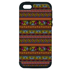 Traditional Africa Border Wallpaper Pattern Colored 2 Apple Iphone 5 Hardshell Case (pc+silicone) by EDDArt