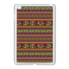 Traditional Africa Border Wallpaper Pattern Colored 2 Apple Ipad Mini Case (white) by EDDArt