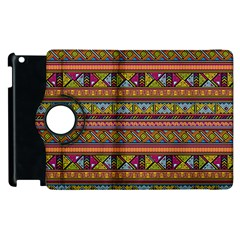 Traditional Africa Border Wallpaper Pattern Colored 2 Apple Ipad 3/4 Flip 360 Case by EDDArt
